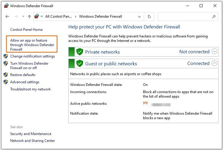 Allow FFXIV through Windows Defender Firewall