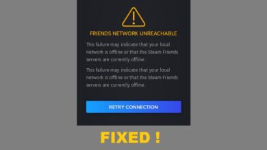 How to Fix Steam 'Friends Network Unreachable' Error