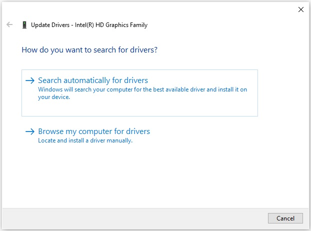 Search auto for drivers
