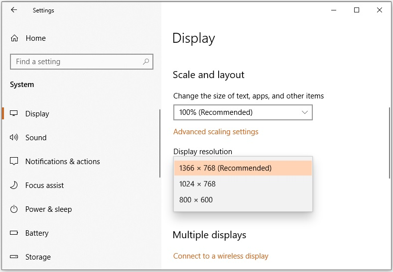 Reset to default resolution to fix Divinity Original Sin 2 DirectX error