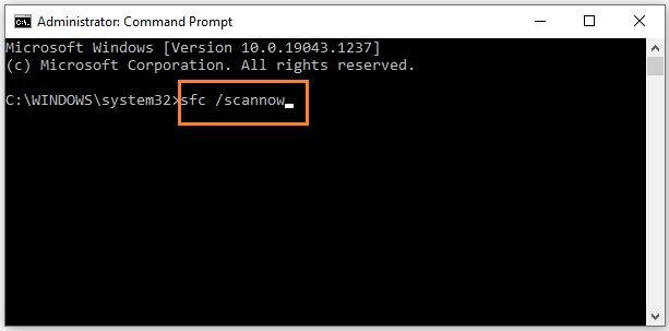 Run SFC Scan to fix the Display driver failed to start error